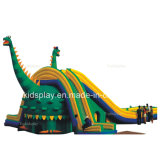 Interesting Dinosaur Inflatable Jumping Bouncer with Slide for Kids