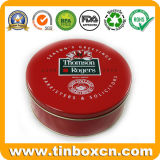 Round Custom Tin Metal Canisters for Gift Tin Can Packaging