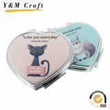 Promotional Gifts Decorative Metal Leather Cosmetic Mirror with Printing Logo