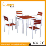 New Design Garden Patio 6 Seaters Dining Table and Chair Set Outdoor Leisure Polywood Hotel Restaurant Furniture