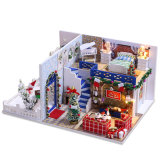 Christmas Toy Dollhouse with Miniature Furniture 3D Wooden Puzzle Toy