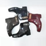 New Style Fashionable Dripdrop Women Ankle Rain Boots Wholesale Cheap Rubber Shoes