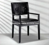 European Style Wooden Leather Seat Armchair (C35)