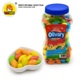 1.6g Sweet Colorful Fruit Flavor Small Olivary Bubble Gum