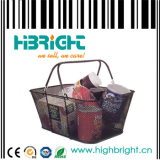 Wire Mesh Metal Shopping Basket for Cosmetic Store (HBE-B-23)