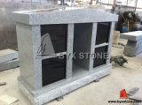 Grey / Black Granite 4 Niche Stone Cemetery Columbarium