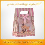 Lovely Bear Image Gift Package Paper Bag Cutting Handle (BLF-PB071)