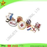 Experienced Manufacturer Low MOQ Custom Logo Cloisonne Traditional Hard Enamel Souvenir Metal Lapel Pin Badge