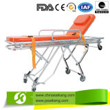 FDA Factory Low Price Medical Aluminum Loading Ambulance Stretcher Trolley