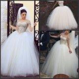 off Shoulder Bridal Ball Gowns Beaded Corset Wedding Dress S201710