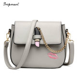 Designed for Girl′s Cheap Adjustable with Metal Chain PU Shoudler Bag
