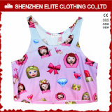Cheap Dance Custom Print Sublimation Polyester Crop Top (ELTWBJ-302)
