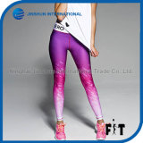 Gradient Color Leggings Sporting Women 2017 New Arrival Slim Leggings Europe and American Style Women Pants Trousers