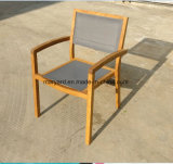 Outdoor Mesh Fabric+Teak Dining Chair