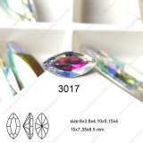Back Foiled Boat Shape Crystal Stone for Fashion Nail Art