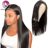 Angelbella Invisible Frontal Wigs Straight Real Human Hair HD Transparent Lace Front Wig Wholesale