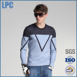 Fashion Long-Sleeved Round Collar Printed Men T-Shirts