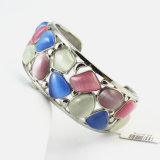 Inox Magnetic Stainless Steel Lady Turquoise Stone Bracelet Jewelry