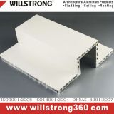 Multi Shaped Aluminum Honeycomb Panel Architectural Facades Panels Canopy Ceiling Signage Ventilated Facades