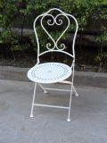Pure White Vintage Heart Design Foldable Patio Set Outdoor Furniture