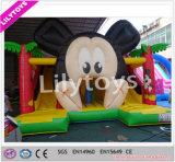 Attractive Design Durable Panda Inflatable Castle Slide Promotion