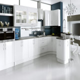 High Gloss White Color Lacquer Finish Modern Kitchen Furniture (ACS2-L302)