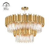 Modern Gold Hanging Hotel Deocorative Indoor Crystal Chandelier