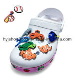 Cartoon Label for Kids Shoes in Rubber PVC Material