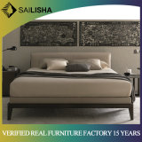 Modern Nordic Simple Style Home Hotel Bedroom Furniture Set Ginuine Leather Double Bed