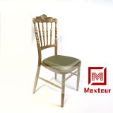 Cheap But Strong Metal Wedding Event Chateau Chair for General Use with Upholstered