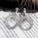 Fashion Wedding Crystal Party Silver Drop Earrings Women Jewelry