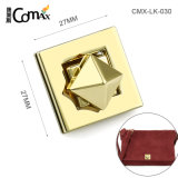 Gold Square Custom Bag Hardware Twist Lock