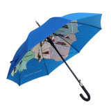 Windproof Frame Walking Straight City Umbrella, Custom Print Umbrella