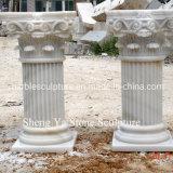 White Marble Stone Sculpture Column Pillar (SY-C002)