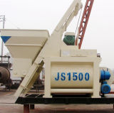Twin Shaft Concrete Mixer Machinery with Pump Concrete Mixer (js1500)