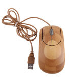 Natural Bamboo USB Optical Mouse for Computer or Laptop