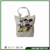 China Wholesale White Canvas Handbag with Cartoon Patterns