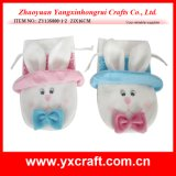 Easter Decoration (ZY13S800-1-2 23X16CM) Easter Bunny Plush Drawstring Bag