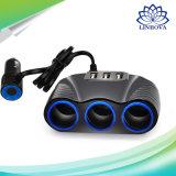 3.1A Output Auto Sockets Car Cigarette Lighter Adapter Lighter Splitter Lighter 3 USB Car Charger