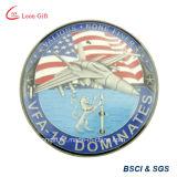 Zinc Alloy Soft Enamel Souvenir Plane Coin for Gift