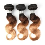 Hair Extension, Ombre Hair, Ombre Hair Extension, Curly Hair Extensions T1b/4/27 3 Tone Ombre Color Bundle Weft Body Wave