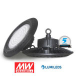 160lm/W 100W/150W/200W Warehouse/Factory IP65 Industrial UFO LED High Bay Light with Meanwell Driver