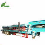 Wholesale Heavy Equipment Dealers Lowbed Lowboy Truck Semi Trailer with Manual Ladders for Excavator Transporter
