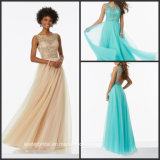 Beading Evening Dresses Tulle A-Line Formal Gowns 2017 Z1026