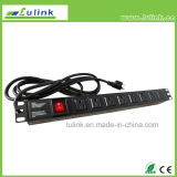 Us Type 19A 8 Way Power Supply Unit (PDU) with Control on/off Unit