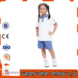 Factory Cotton Blue Primary School Uniform Polo-Tshirt and Pants