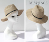 Summer Straw Paper Bowler Hat