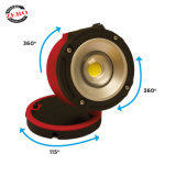 Rechargeable Powerful USB IP65 Waterproof Work Light with Magnet, Hook and 360 Swivel