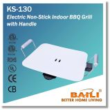 Electric Non-Stick Indoor BBQ Grill with Handle