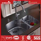 70/30 Stainless Steel Under Mount Double Bowl Kitchen Sink, Stainless Steel Sink, Sink, Handmade Sink